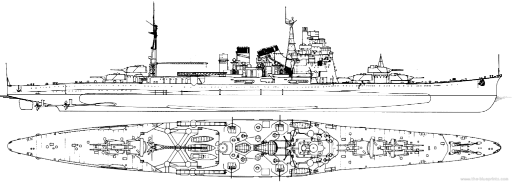 IJN Takao after reconstruction in 1939
