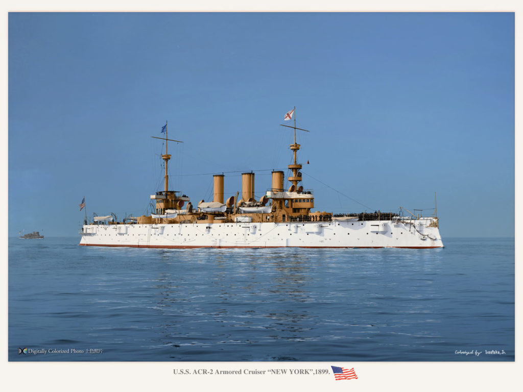 USS New York, colorized by Irootoko jr