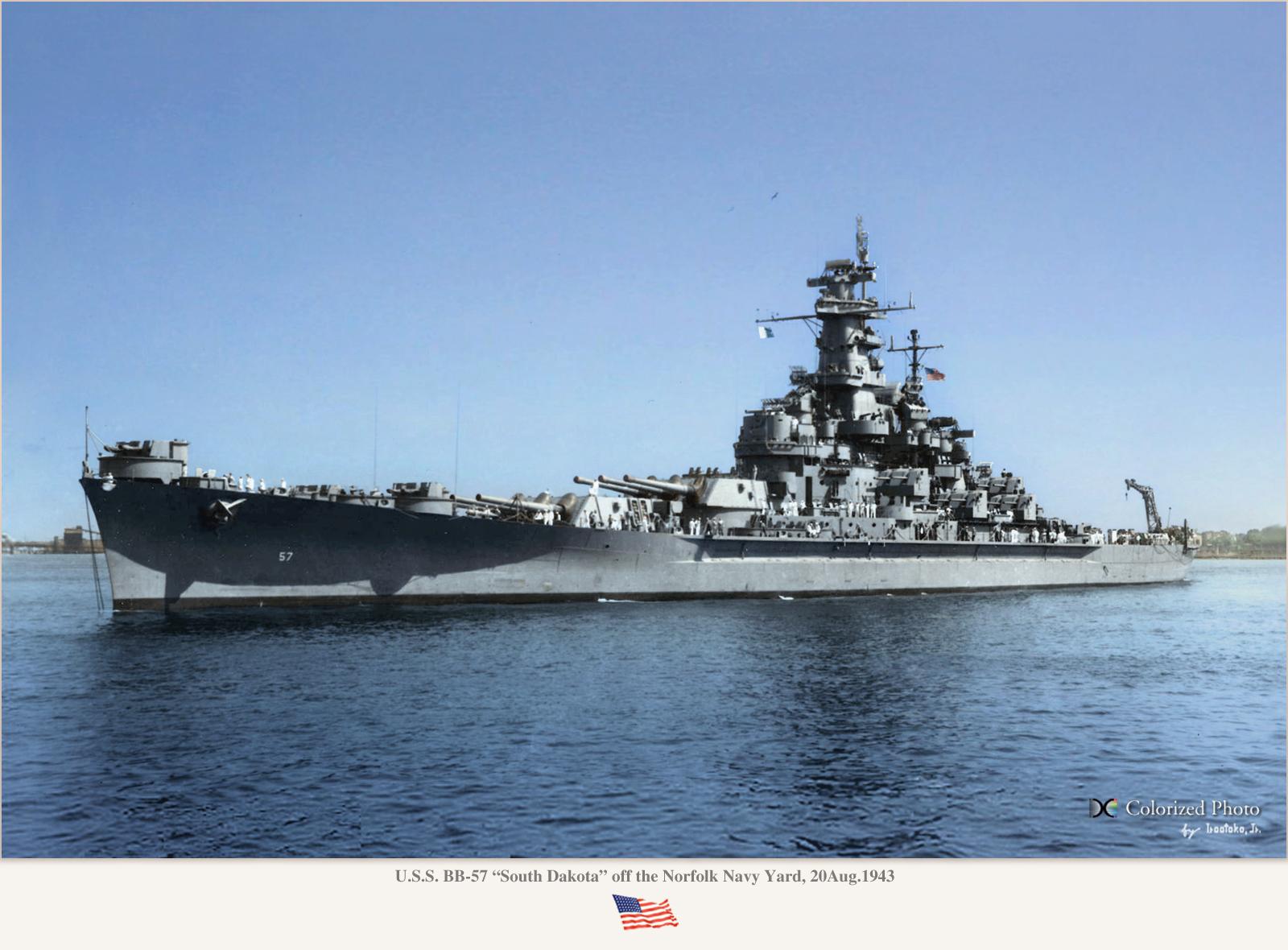 Battleship USS South Dakota