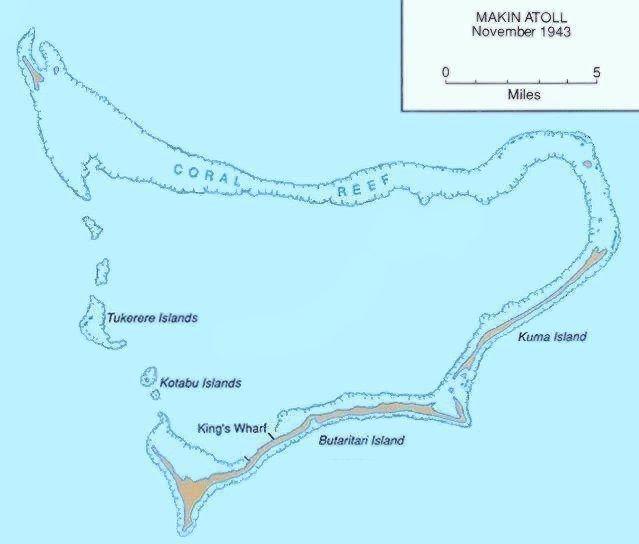 Makin attoll map