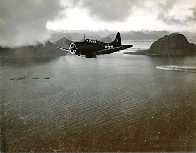 A VB-4 SBD near Bodø, Norway, 4 October 1943