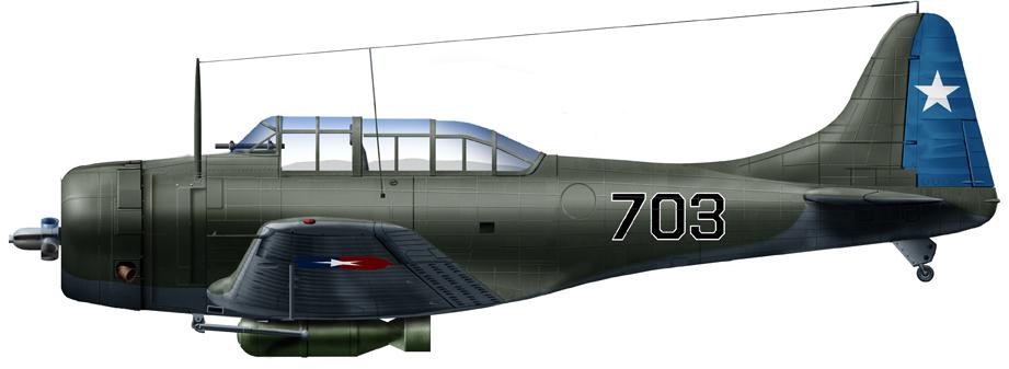 A20 in Chilean service, 1950