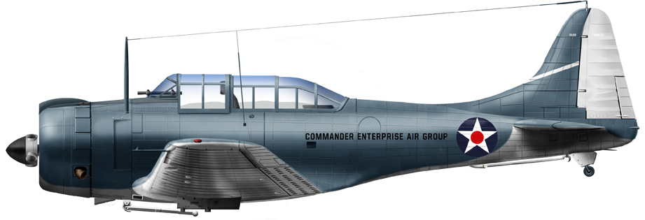 SBD-2 from Sqn. Cdr. Howard Young from CV6 USS Enteprise at Pearl Harbor, December 1941