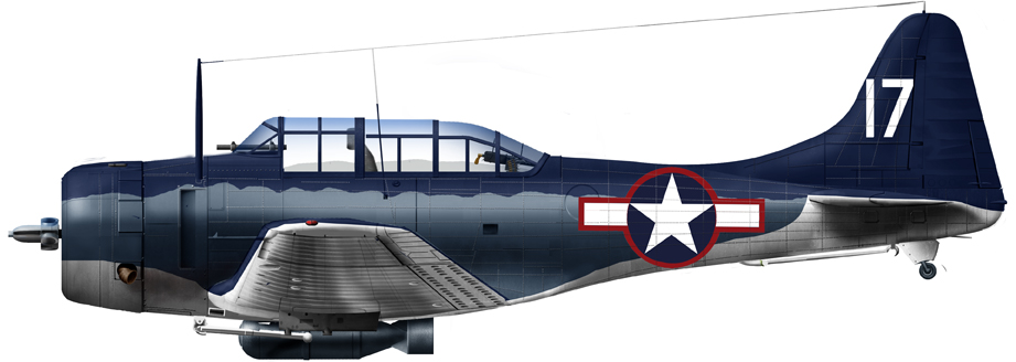 SBD-4 of VMSB 243, 1st Air Group, Munda airfield, New Georgia, 1943