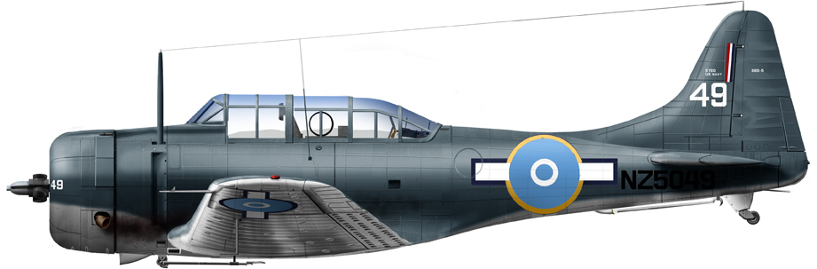 SBD-5 N°25 Sqn RNZN, South West Pacific, 1944-45