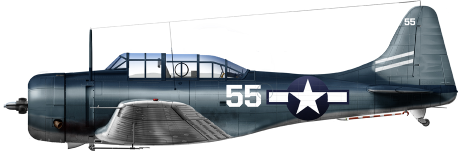 SBD-5, VB-12 USS Saratoga