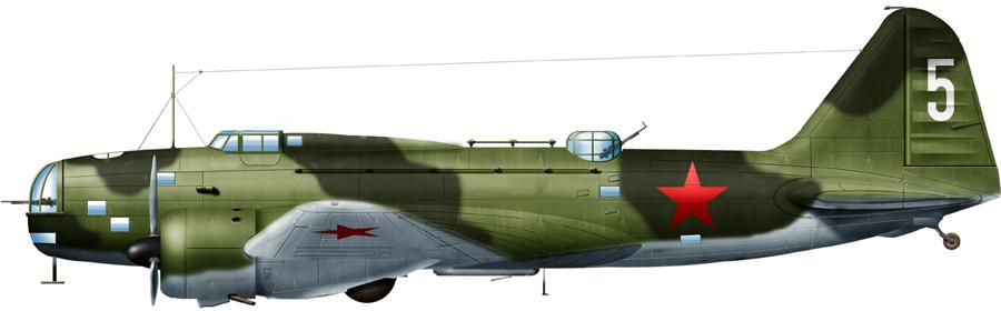 Ilyushin DB-4 used by the coast guard