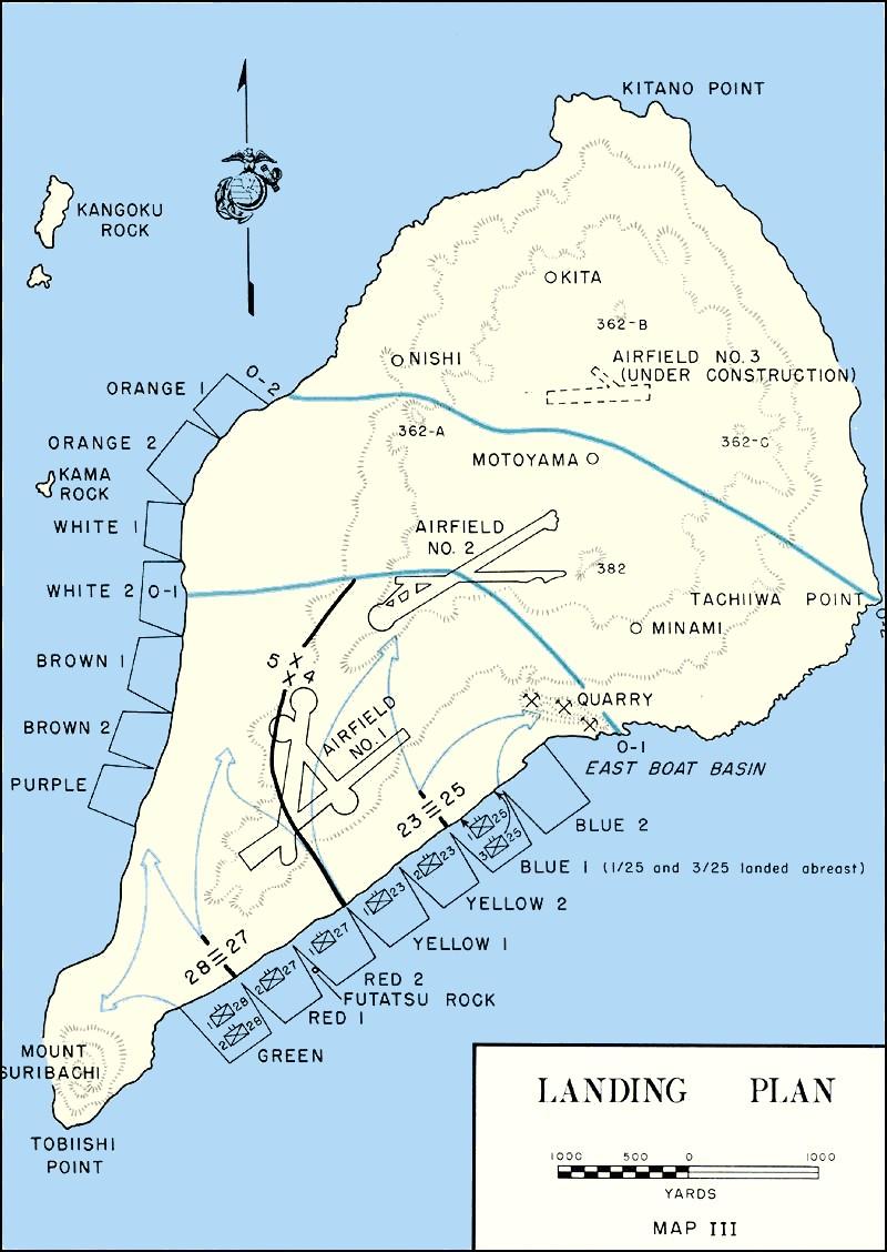 Iwo_Jima Landing Plan