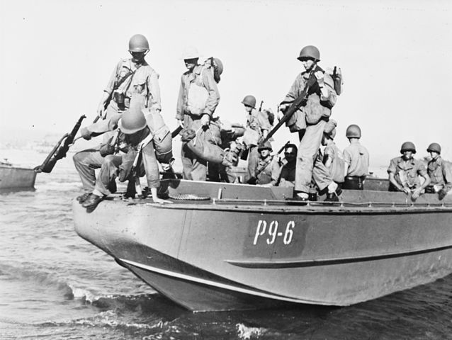 LCP(L) from USS Zeilin, training 1942