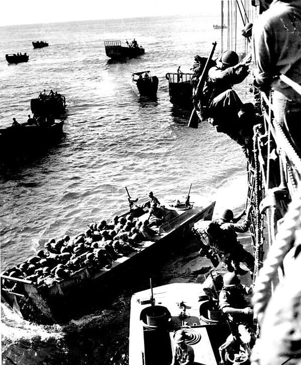 Landing at Empress Augusta on LCVP