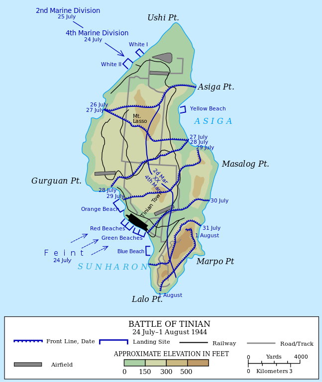 Detailed map of operations