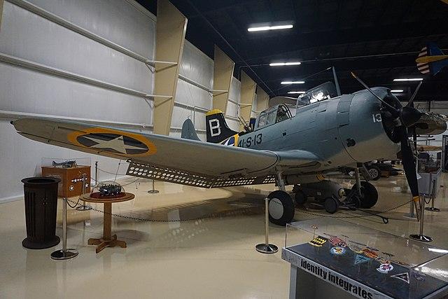 SBD-3 on display at Air Zoo