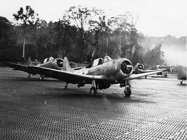 Douglas SBD-5s preparing to take off
