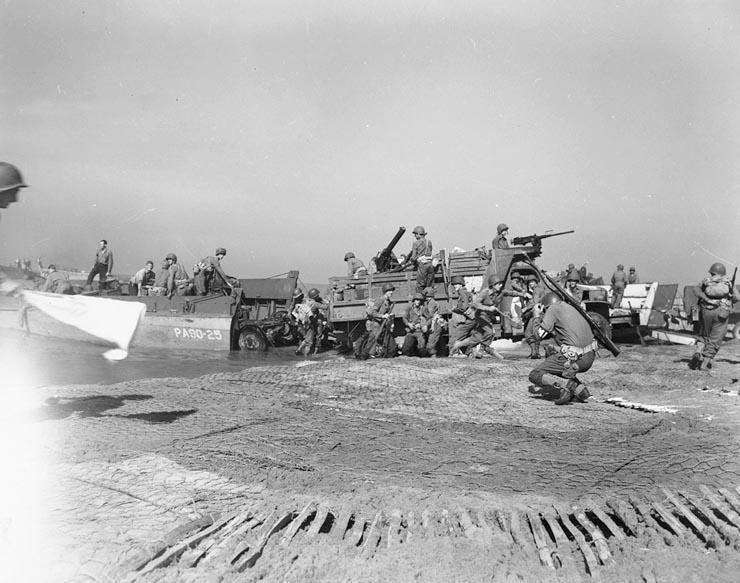 LCTs landings at Salerno, 9 September