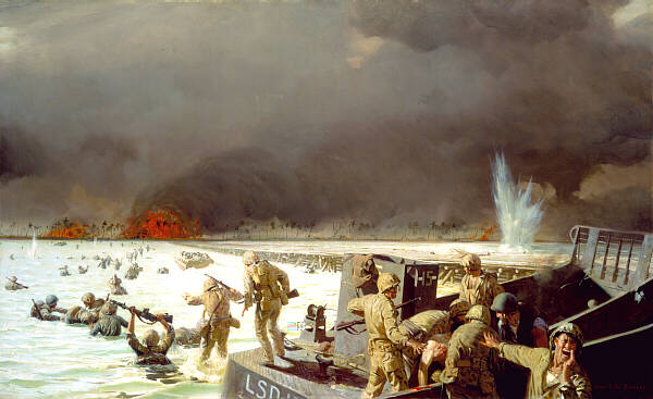 a painting by veteran Sgt. Tom Lovell