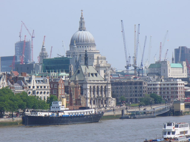 HMS President on the Thames