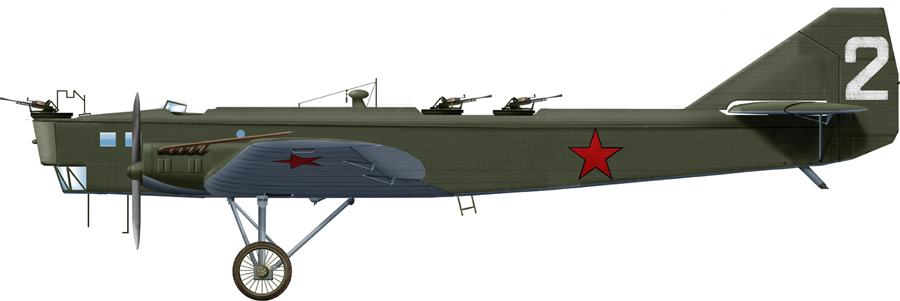 Tupolev TB-1 used for training in 1939