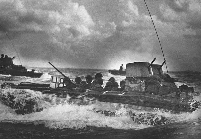 LVT-2 Water Buffalo heading to Tinian's beaches