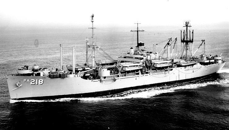 USS Noble, APA-218 in 1956