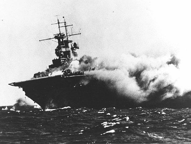 The loss of USS Wasp, 15 September
