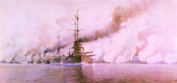 The Grand Fleet at Jutland