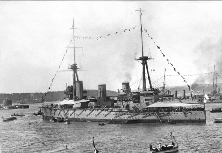 HMAS Australia at Sydney October 1913