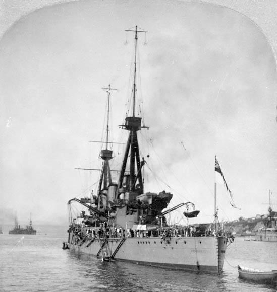 HMS Indomitable at Quebec Tercentenary