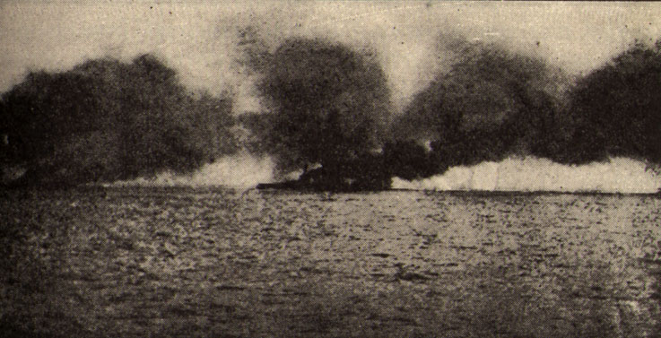 HMS Lion hit at Jutland