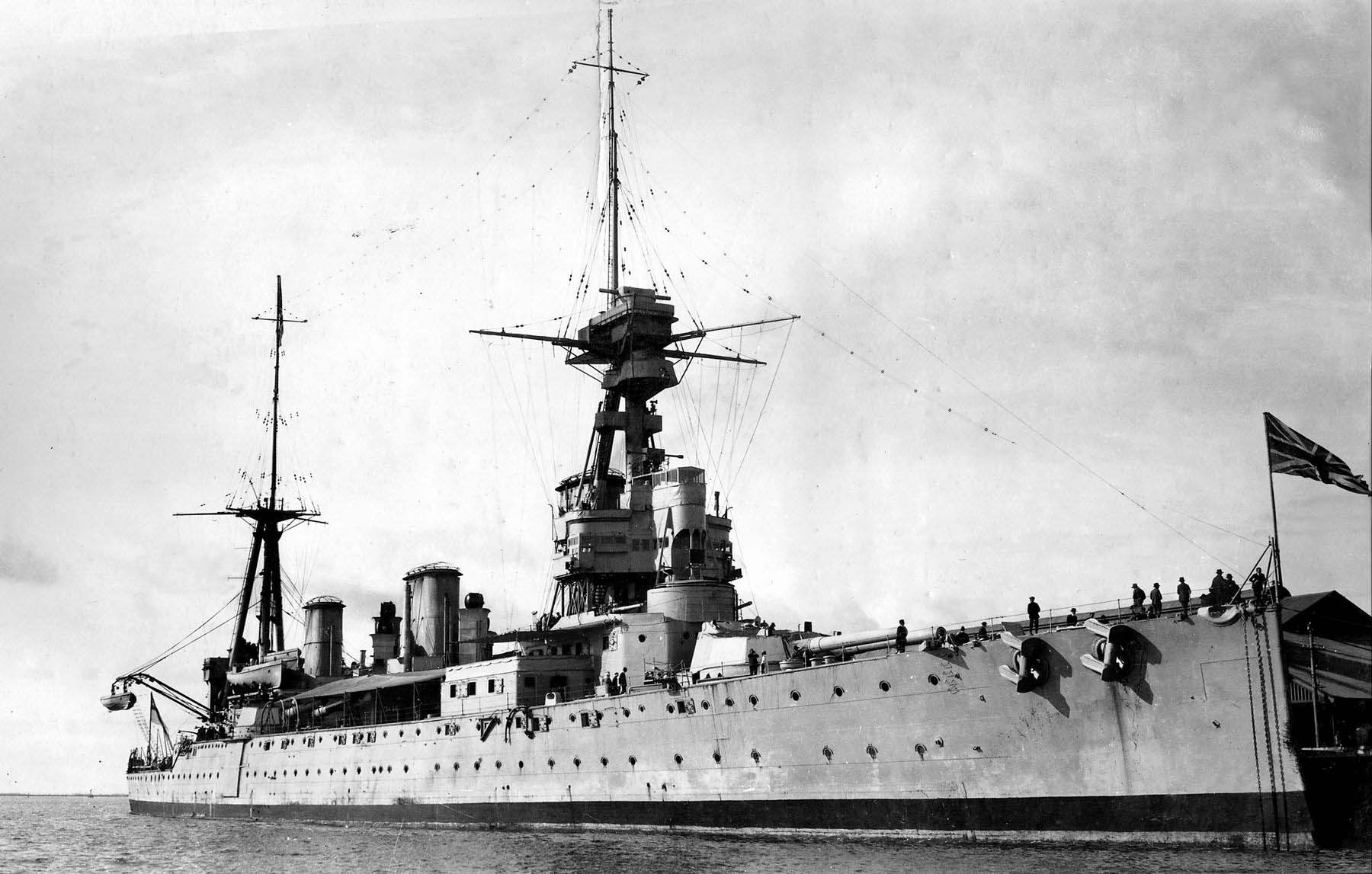 HMS New Zealand at Adelaide