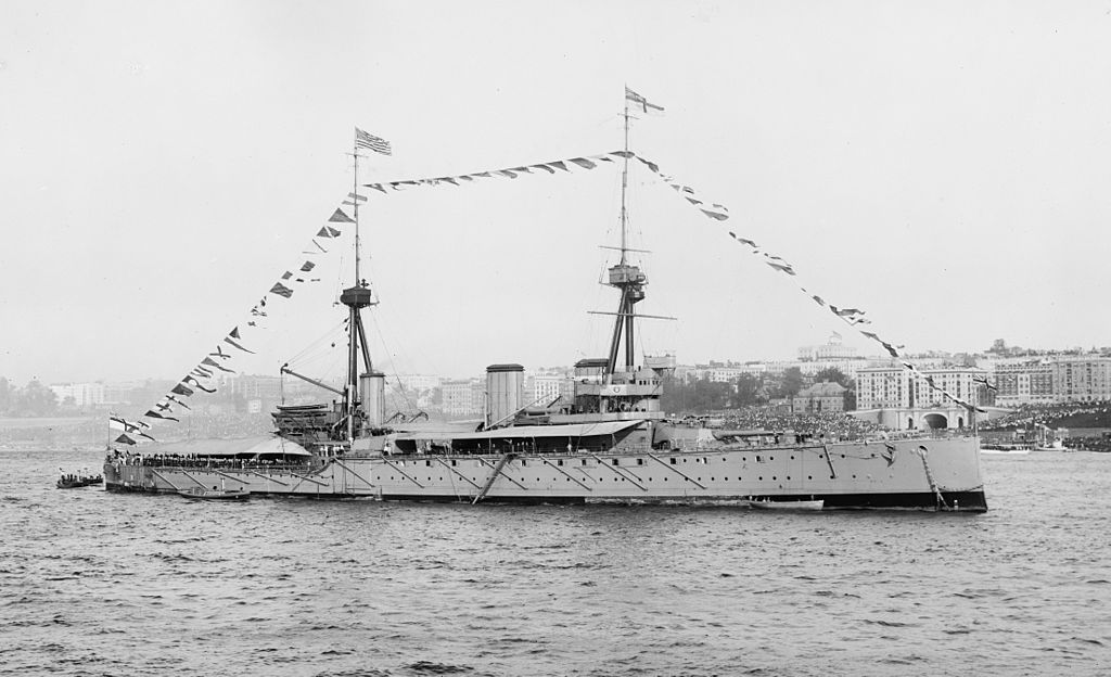 HMS Inflexible at New York, 1909