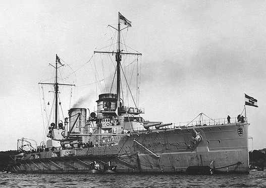 SMS Seydlitz in Kiel prior to ww1