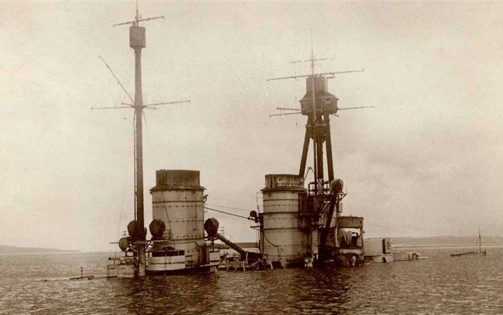 SMS Hindenburg sunk