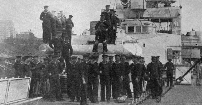 SMS Moltke forward gun turret