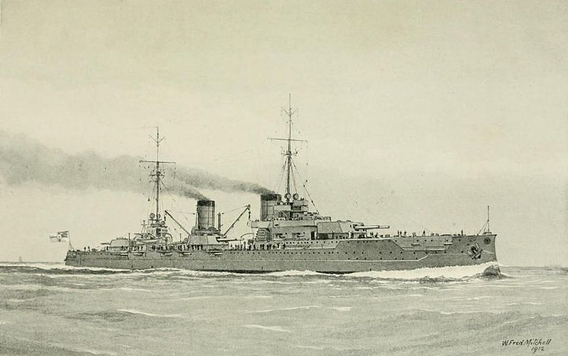 Illustration of the SMS Von der Tann