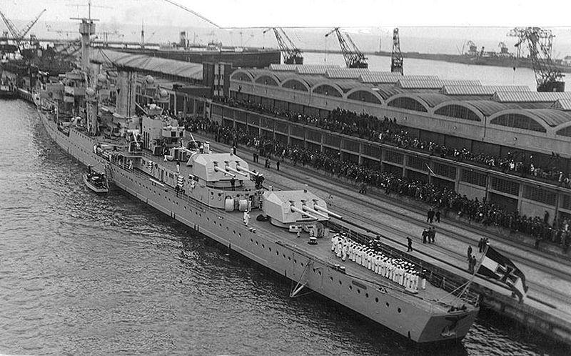 Königsberg in Gdinya harbour Poland 1937
