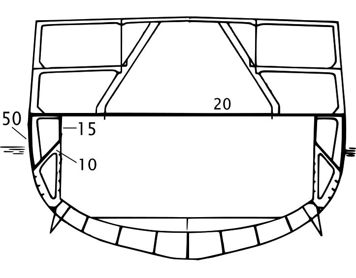 Königsberg hull armour details section