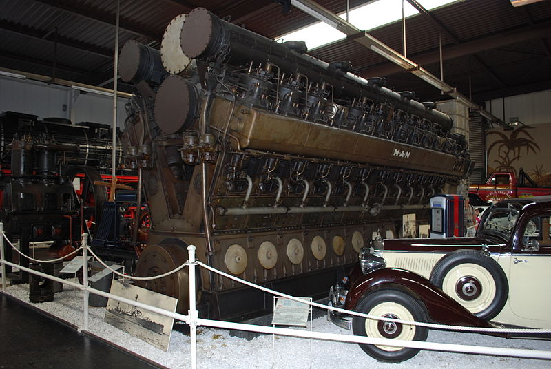 Emden's replacement MAN diesel engines, never fitted as preserved.